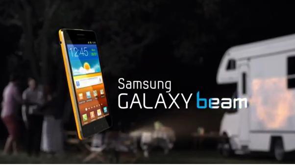Samsung galaxy beam si mostra nel primo spot ufficiale for Samsung beam tv