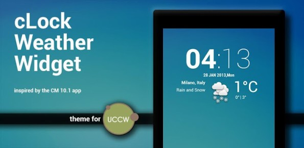 clock weather widget