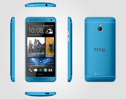 HTC One Mini light blue 6V Source Render