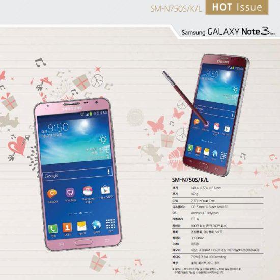 SamsungGalaxyNote3NeoPinkandRed