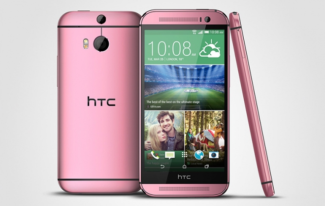 HTC One pink
