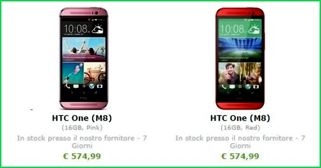 htc one red pink expansys
