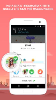 Waze ETA Sharing Screen on Android