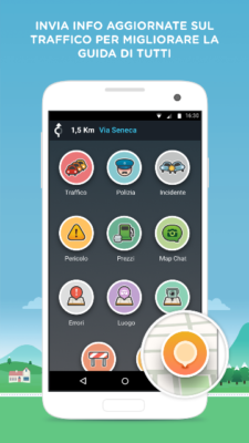Waze Reporting Screen on Android